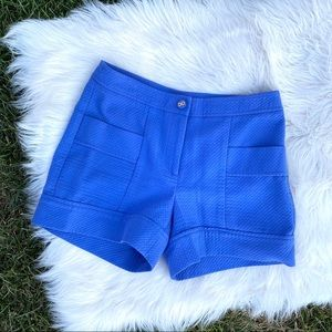 J. McLaughlin blue quilted shorts 4